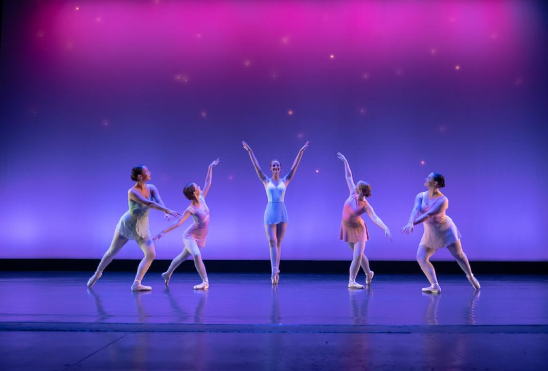 Georgia College students performing in Spring Dance Concert.
