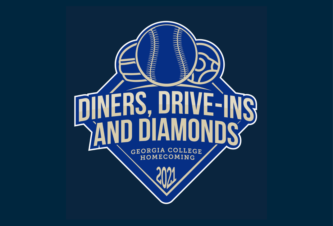 Logo for Homecoming 2021 at Georgia College, Diners, Drive-Ins and Diamonds