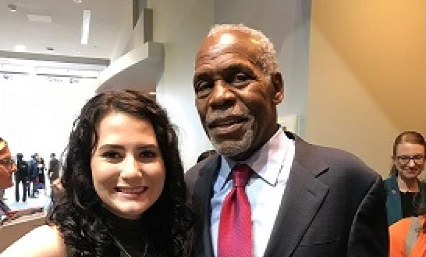 madison capstick with danny glover in DC