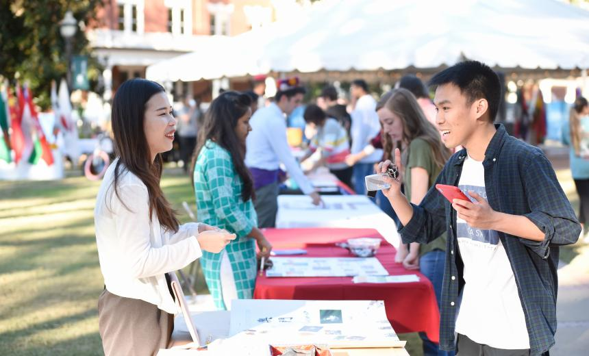 International Students Sharing Cultures at International Fest