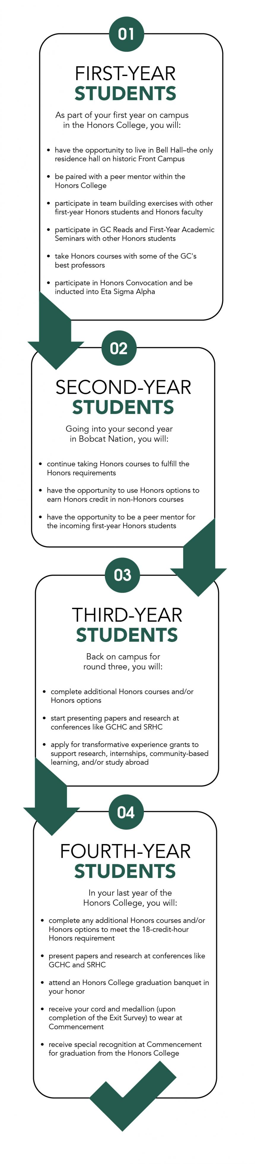 infographic for honors experience