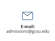 Admissions email is admissions@gcsu.edu
