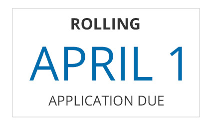 The first-year Rolling application deadline is April 1st
