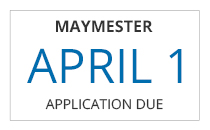 Maymester non-traditional freshman application deadline is April 1st