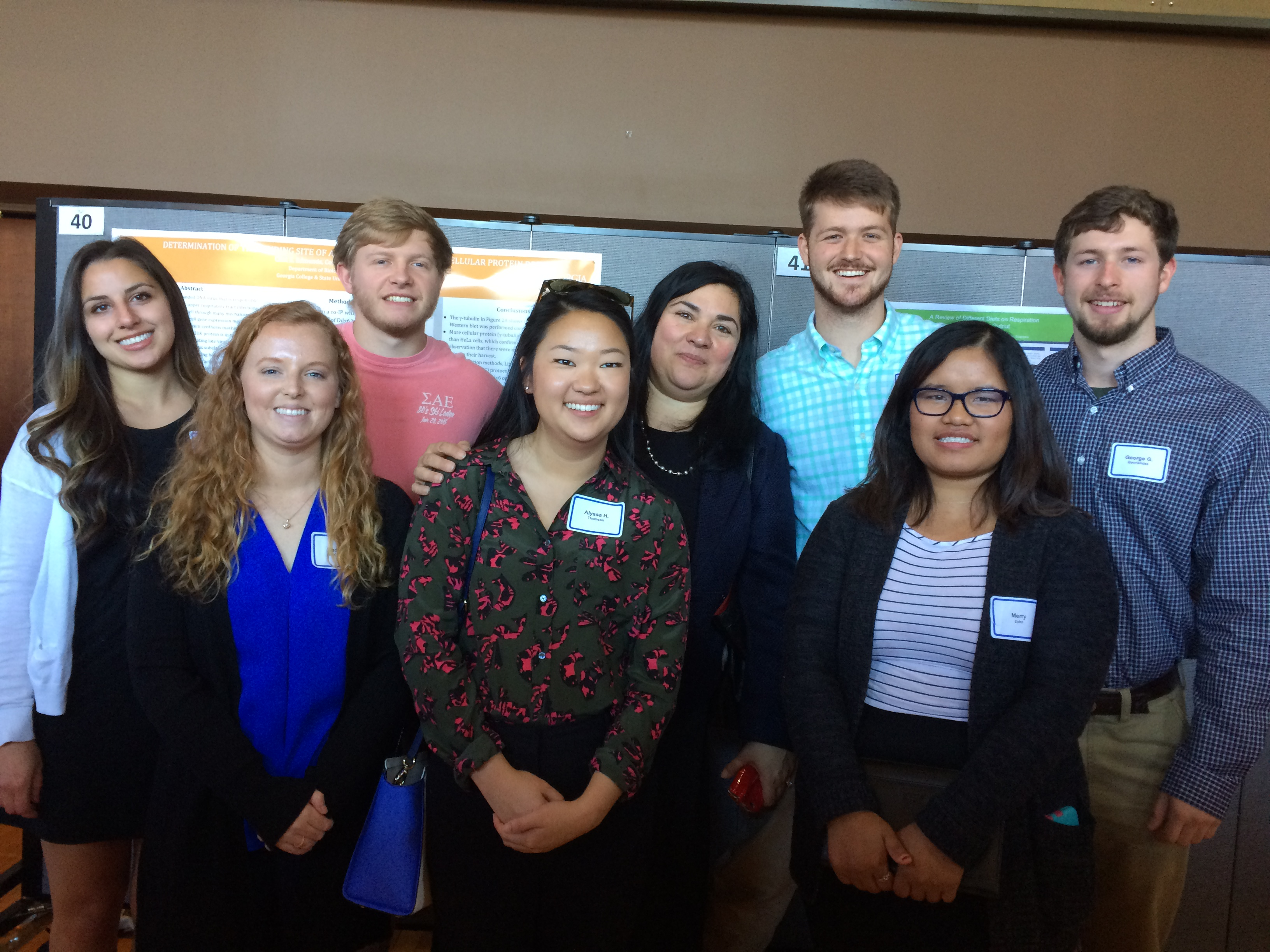 Student presenters at conference