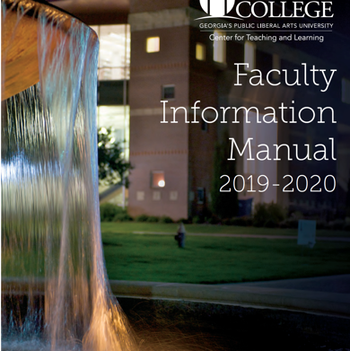 Cover of Faculty Information Manual 2019-2020