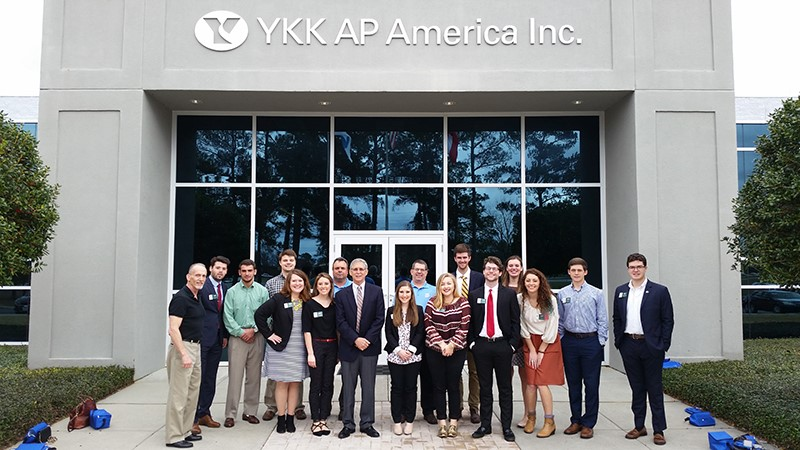 GEM students tour the YKK plant in Dublin, Ga.